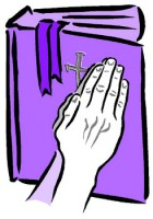 The Standing Remnant of Faithful Saints praying hands with Bible e1267184024294